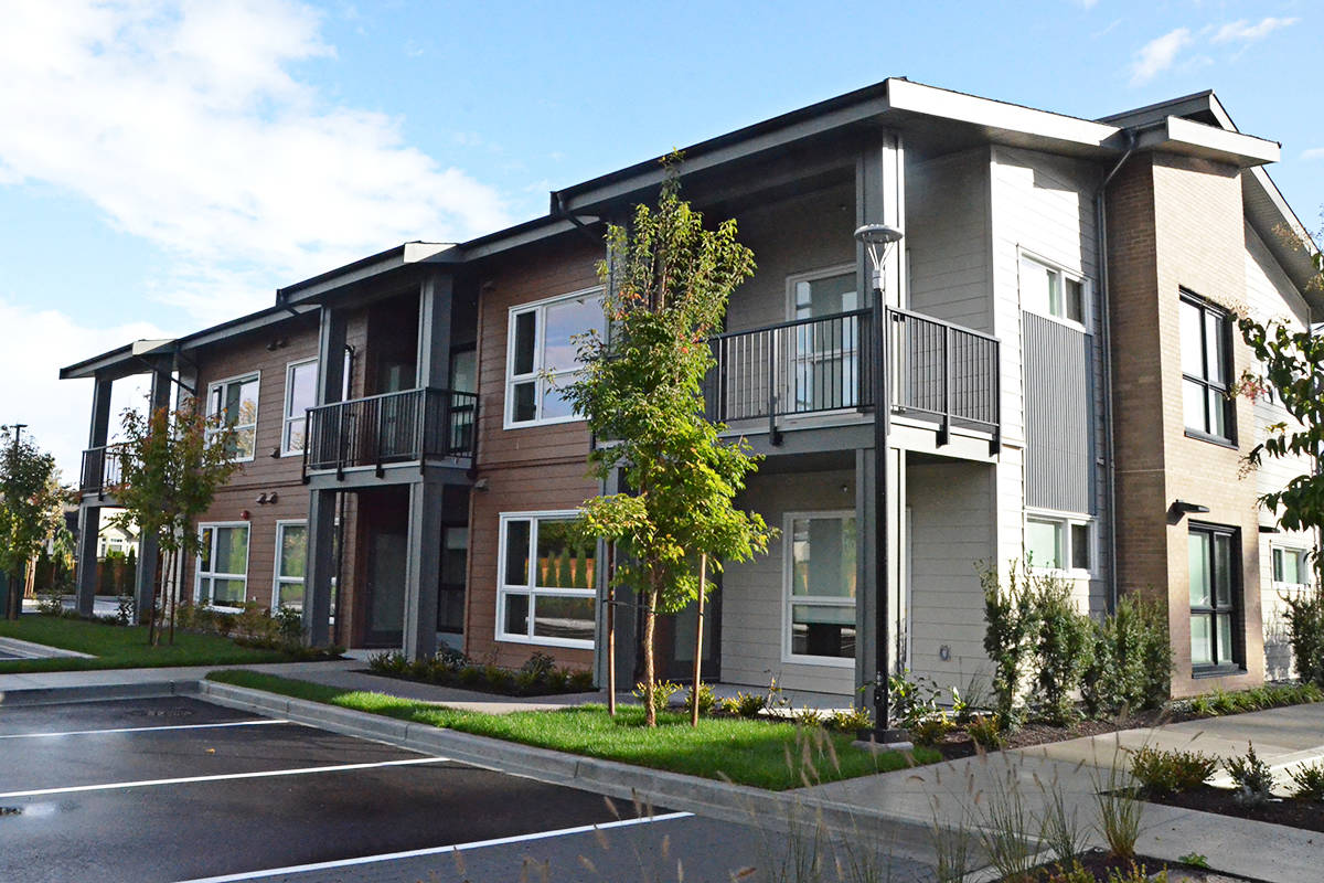 A dozen townhouse-style units for low-income families also sit on the Shepherd of the Valley site. (Matthew Claxton/Langley Advance Times)