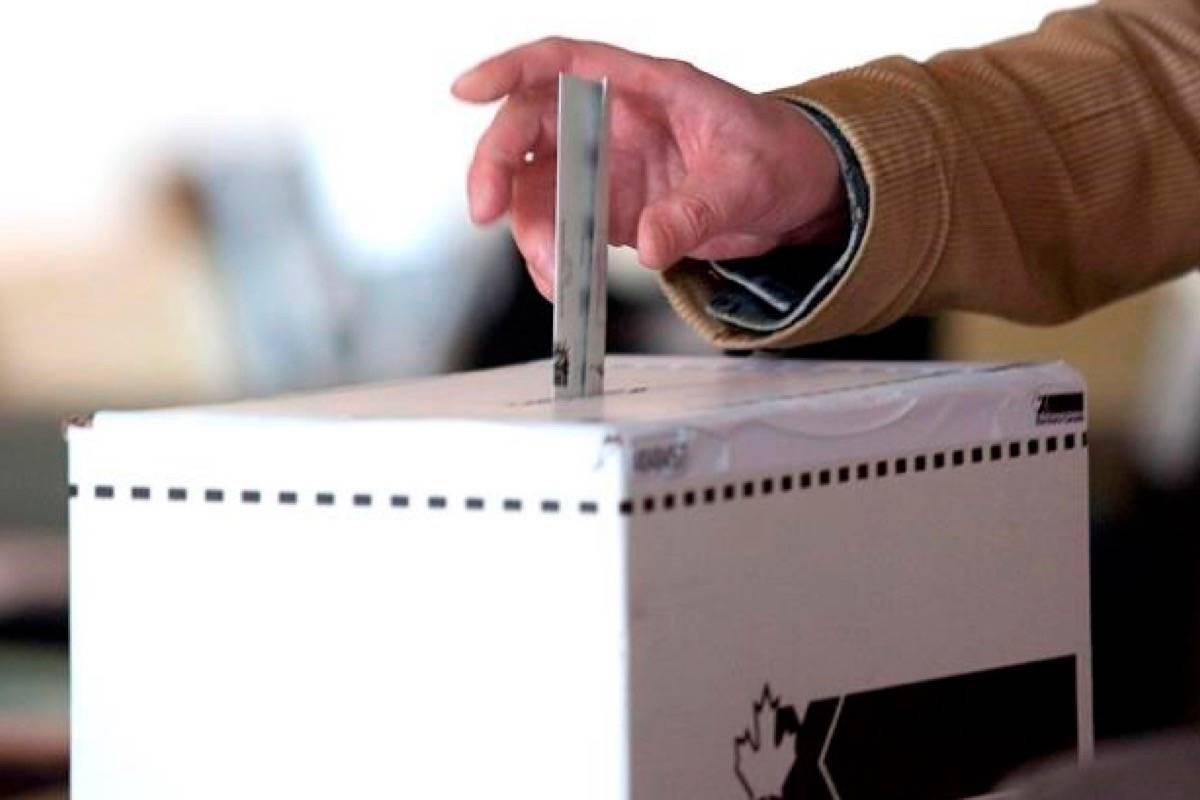 Early voting begins next week across B.C., and in all four ridings covering Langley. (Photo by THE CANADIAN PRESS)