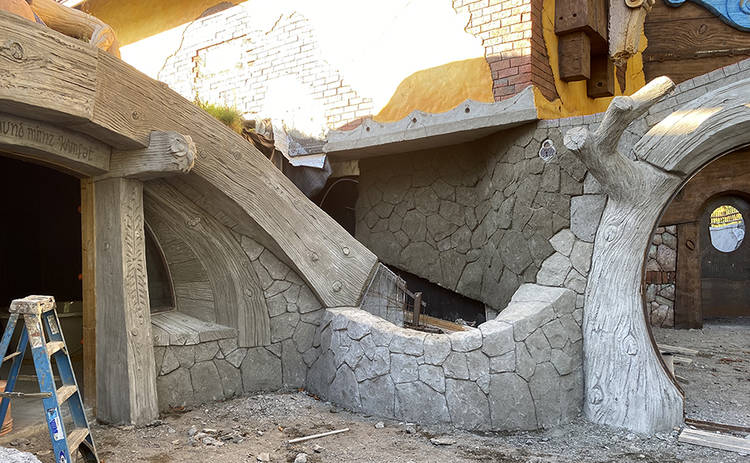 The rounded doorframe of the Under Hill suite is visible to the left in this photo. (Imagination Corporation)