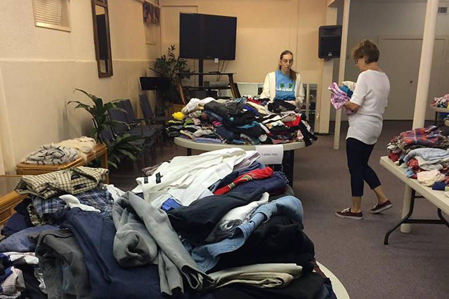 Volunteers at a recent Clothes2U event (Ernie Jantzen/special to Langley Advance Times)