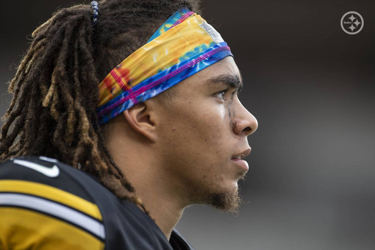 Chase Claypool scored four touchdowns for the Pittsburgh Steelers en route to a 38-29 win over the Eagles on Sunday, Oct. 11 at Heinz field (Karl Roser/Pittsburgh Steelers)