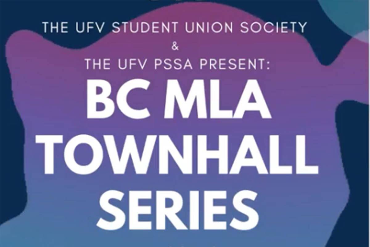 The UFV SUS and UFV PSSA will be hosting candidates from the BC Liberal, BC Green and BC NDP this week via Zoom. (Instagram photo)