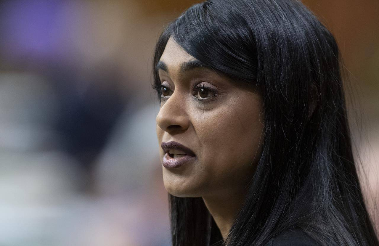 Diversity and Inclusion and Youth Minister Bardish Chagger responds to questions from the opposition during a sitting of the Special Committee on the COVID-19 Pandemic in the House of Commons Wednesday July 22, 2020 in Ottawa. THE CANADIAN PRESS/Adrian Wyld