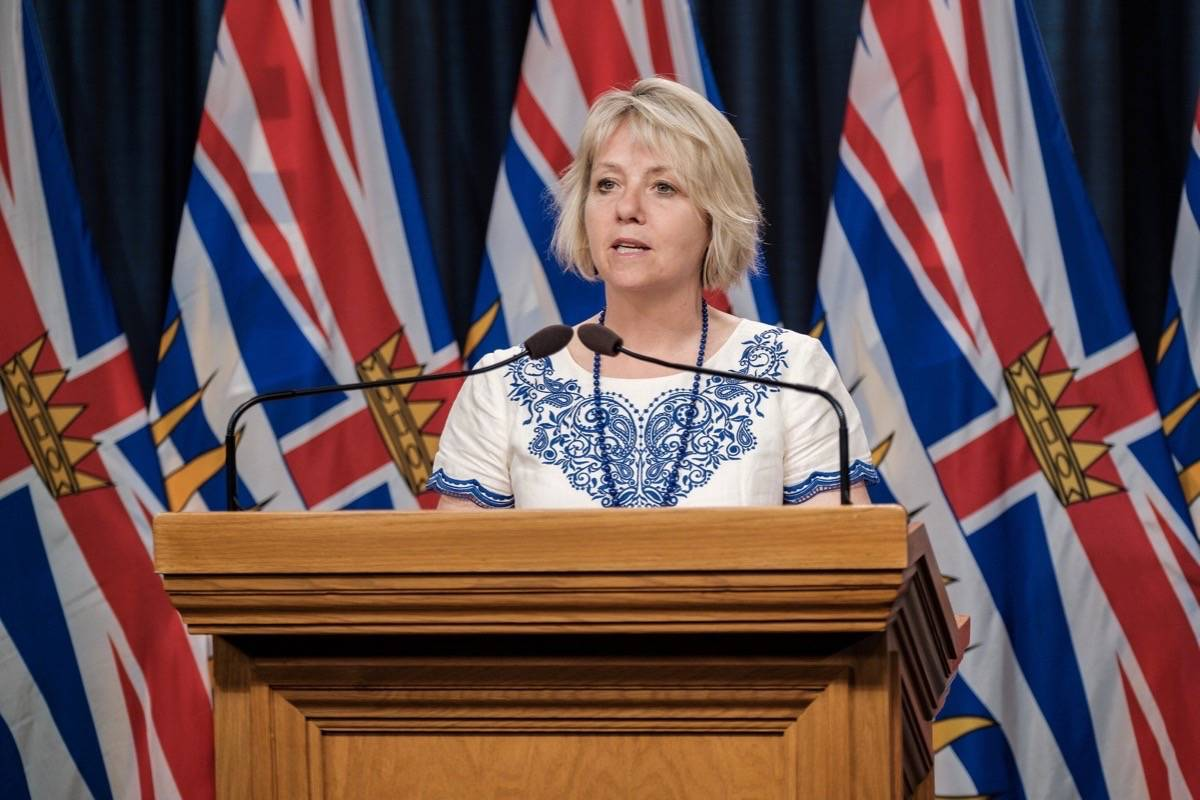 Provincial Health Officer Dr. Bonnie Henry updates COVID-19 cases in B.C., Aug. 27, 2020. (B.C. government)