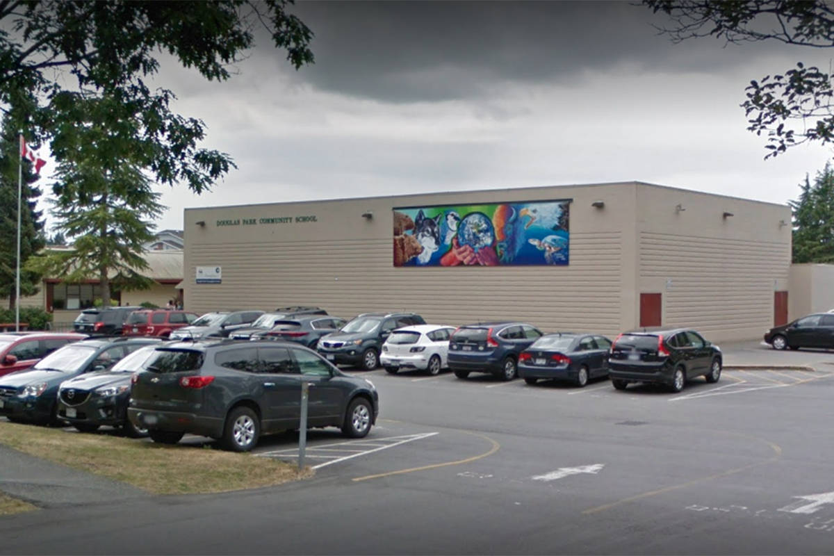 Fraser Health reported that an individual with COVID-19 was at Douglas Park Community School on Oct. 8 and 9, 2020. (Google)