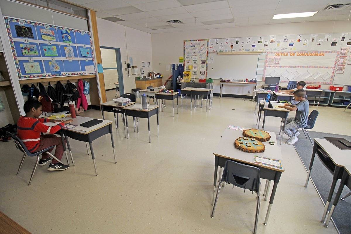 The Surrey school district classrooms using physical distancing in September 2020. (Photo: Lauren Collins)