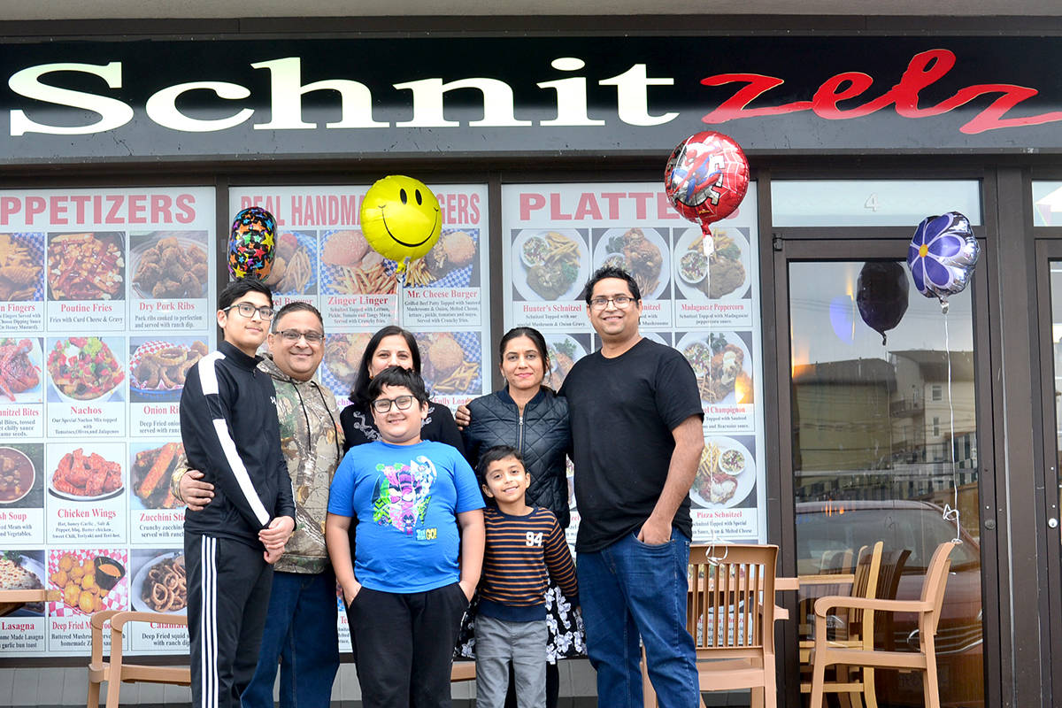 Sunil Vasdev moved their Schnitzelz restaurant from Aldergrove to Abbotsford after Alder Inn fire last fall. (Ryan Uytdewilligen/Aldergrove Star)