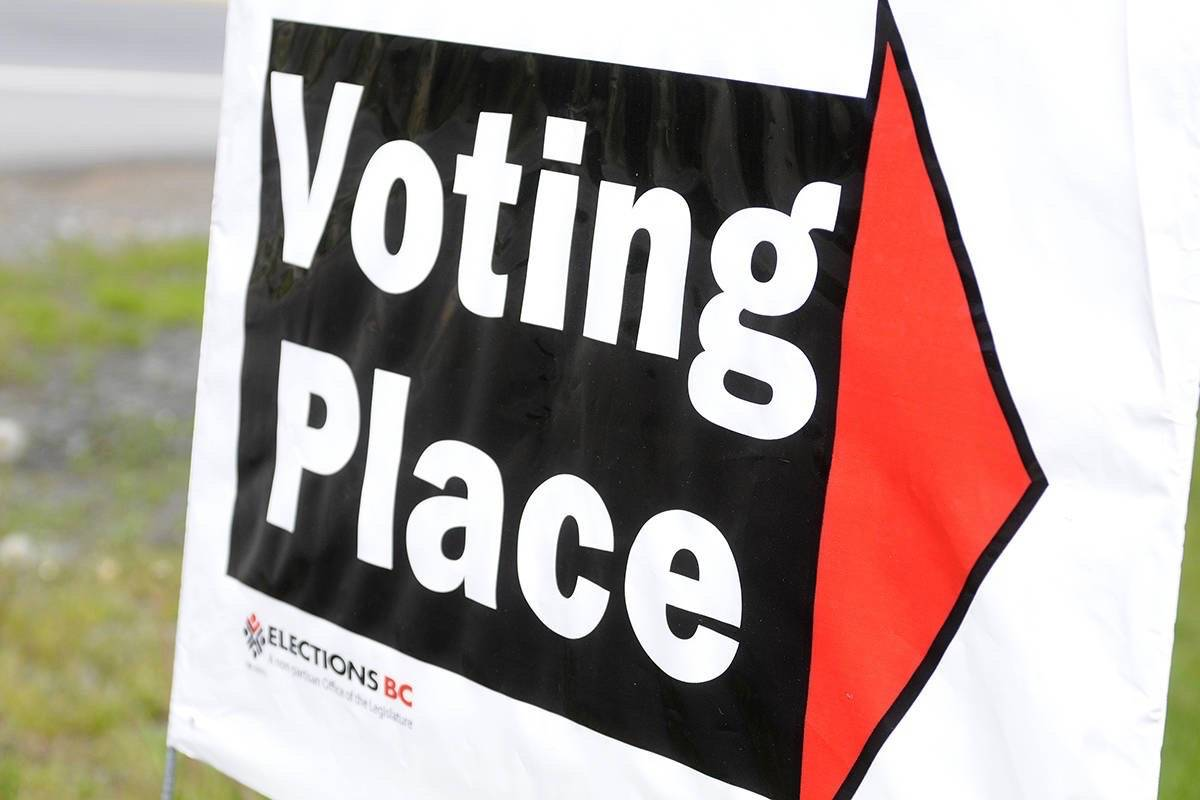 Advance voting is already underway in the 42nd general election in British Columbia. Election day is Oct. 24.(Black Press files photo)
