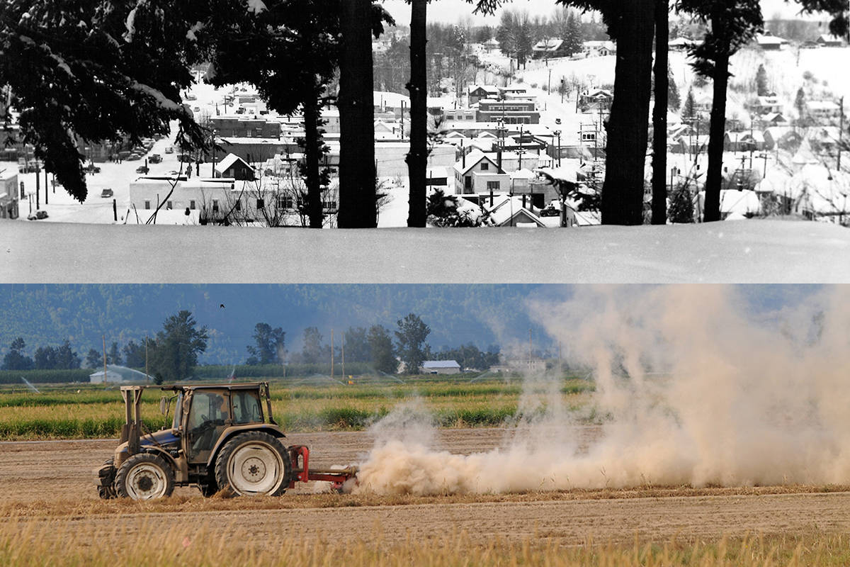 Photo top from 1950s Abbotsford courtesy The Reach Gallery Museum Archives (P498); File photo (bottom)