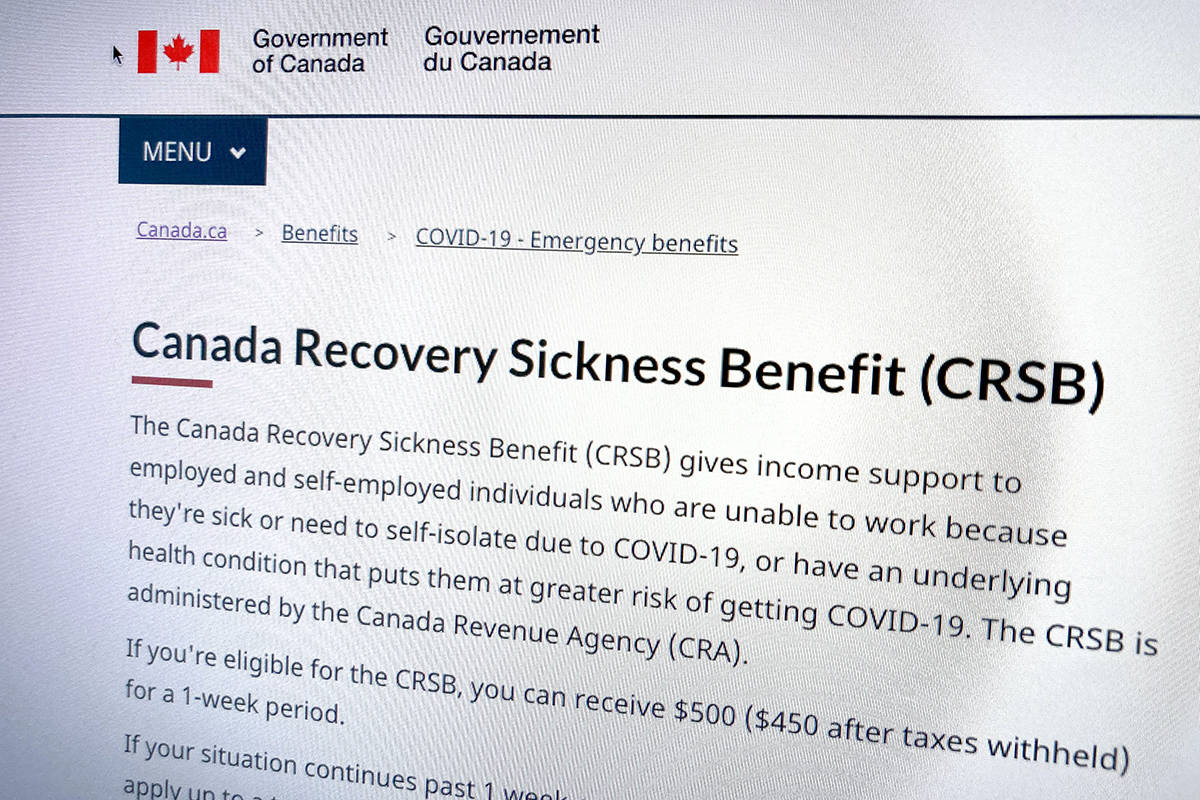 The Canadian Centre for Policy Alternatives had estimated about 5,000 people would use the taxable sickness benefit. (Katya Slepian/Black Press Media)