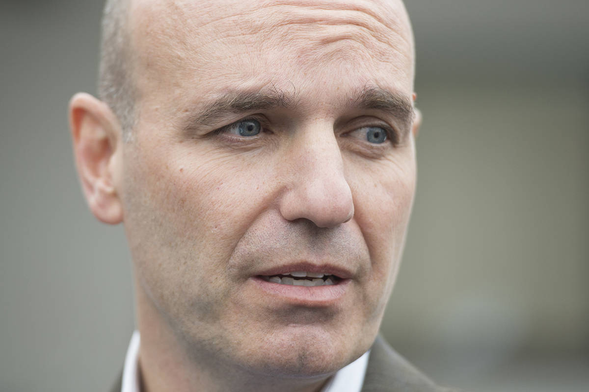 FILE - Nathan Cullen speaks to media in Smithers, B.C., Friday, February 28, 2020. THE CANADIAN PRESS/Jonathan Hayward