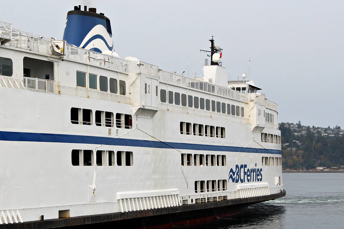 The BC Ferries vessel the Queen of Oak Bay. (News Bulletin file photo)