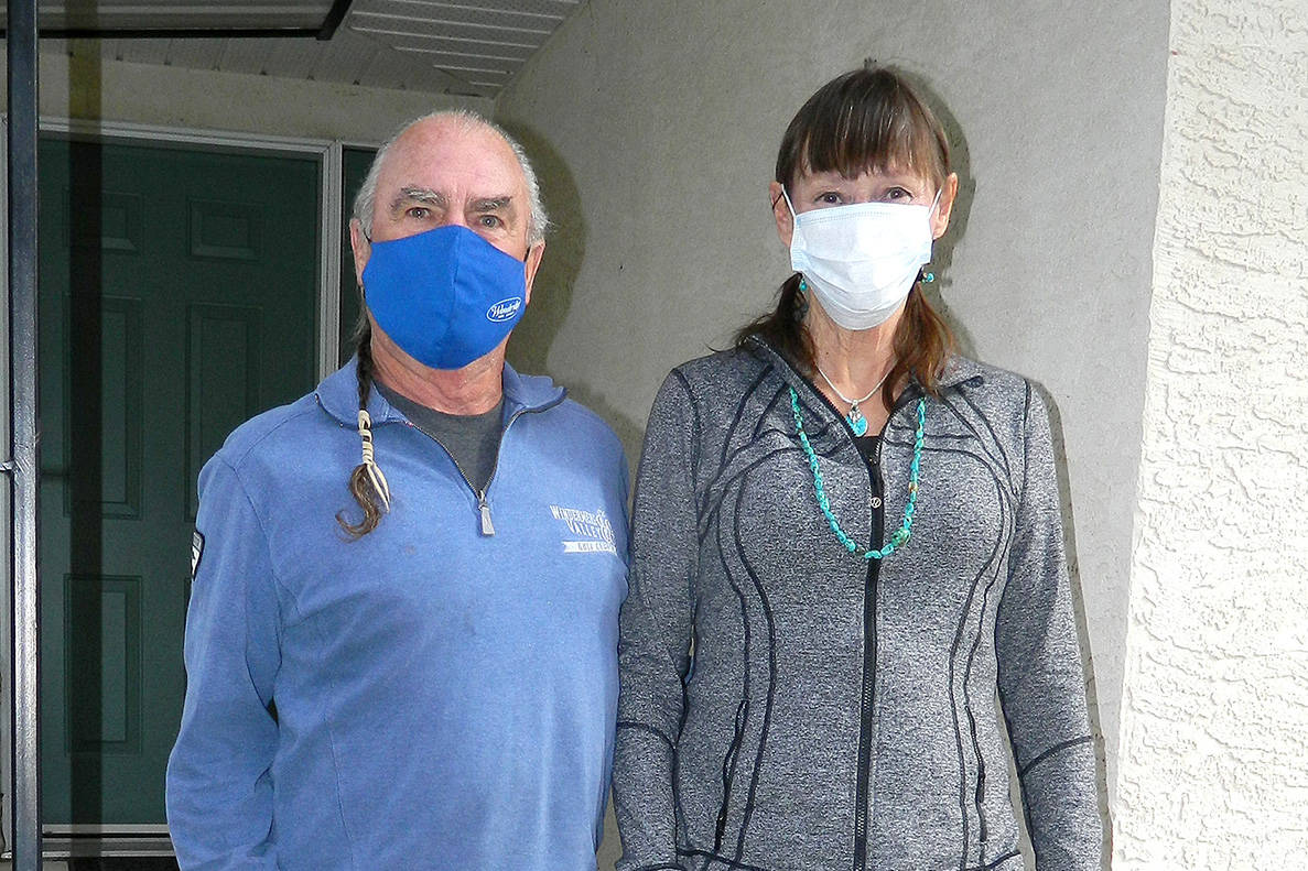 Grant and Barbara Howse, in quarantine in Invermere. Mike Turner photo