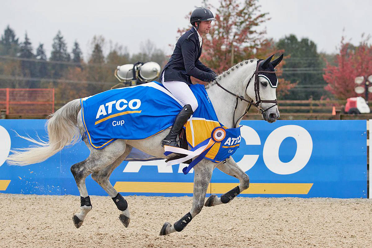 Langley's Brian Morton and Cadillac won the $73,000 ATCO Cup Grand Prix at the Harvest Welcome event held at Thunderbird Show Park on October 18, 2020. (Rob Wilton/special to Langley Advance Times)