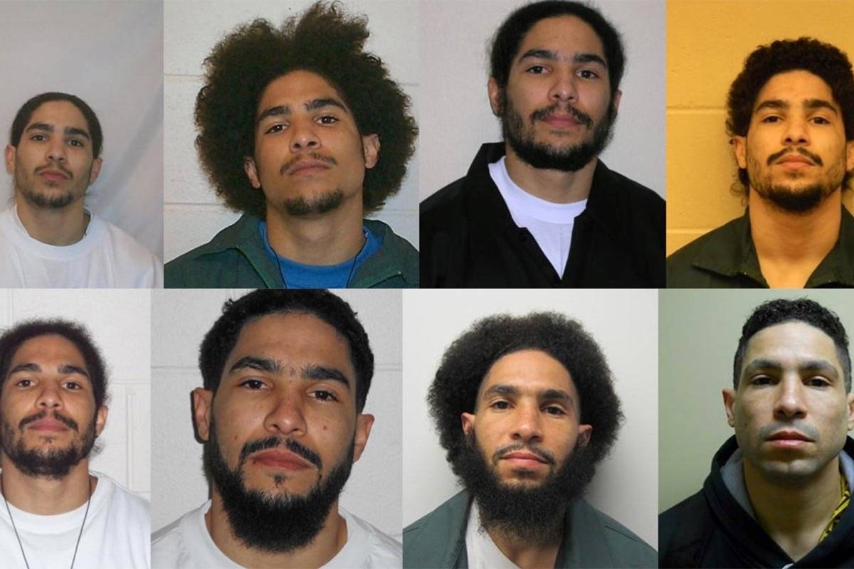 The many faces of Daon Glasgow. (Photos: Surrey RCMP)