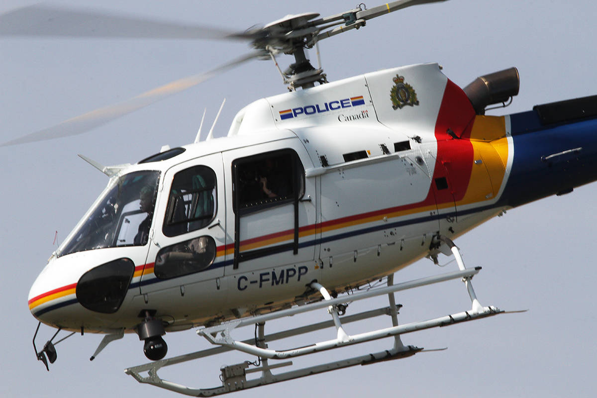 The RCMP helicopter. (File photo)