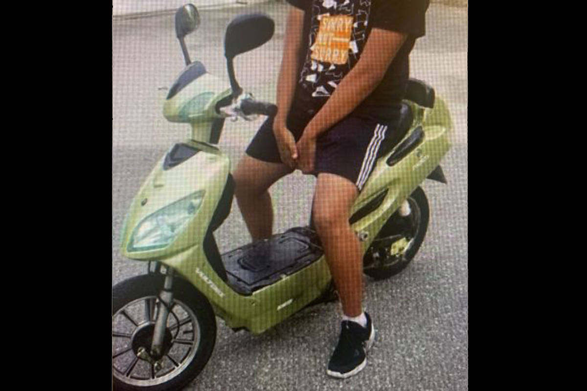 A scooter that was stolen earlier this fall. (Langley RCMP/Special to the Langley Advance Times)