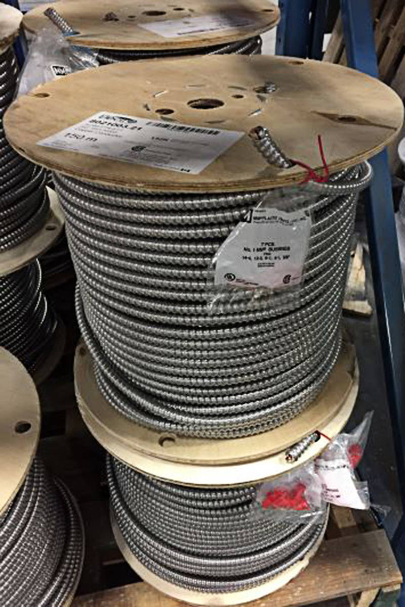 About $5,000 worth of wire was stolen in North Langley. (Langley RCMP/Special to the Langley Advance Times)