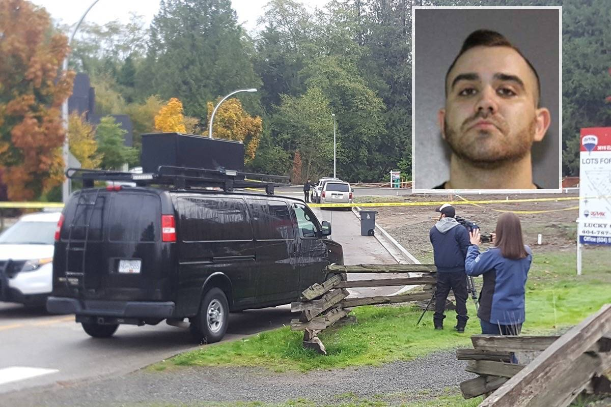 Brandon Nathan Teixeira, arrested last December in California in connection with a fatal 2017 shooting in South Surrey, is next due in court on Nov. 12. (File photos)