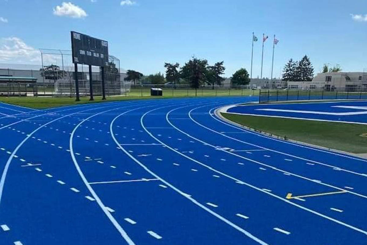 McLeod Athletic Park is open, but only to football, the Township confirmed Monday (BCHS Track and Field/Special to Langley Advance Times)