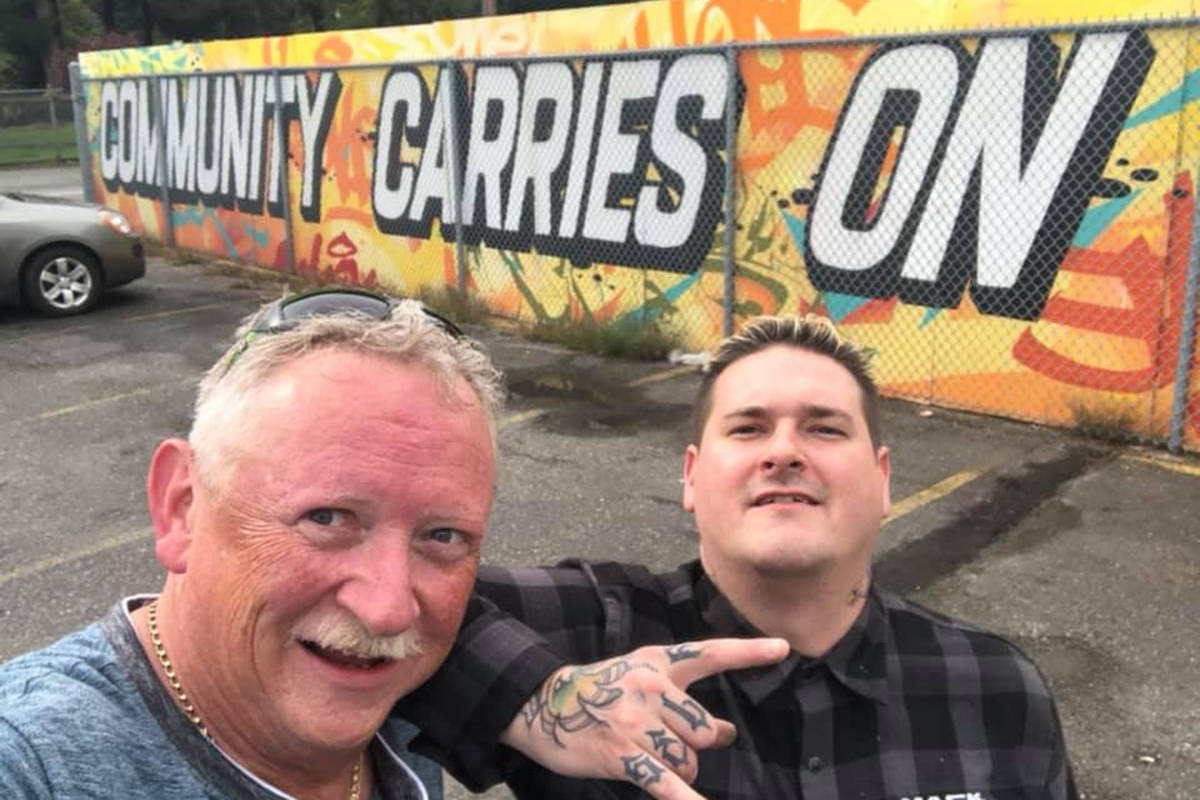 Aldergrove Elks Club put up a mural which they hope kids can help finish in the coming months. (Special to the Aldergrove Star)