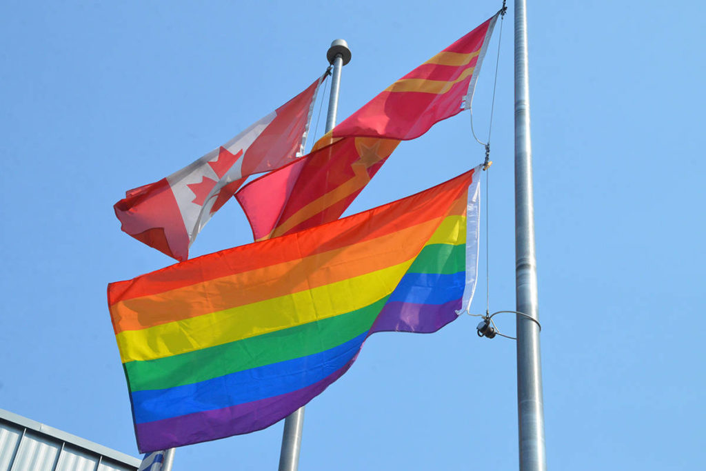 A 2018 decision to fly a rainbow flag ended up costing the City of Langley $62,000 in legal fees (Langley Advance Times file)