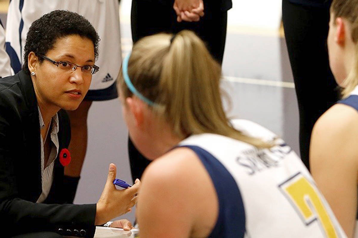 Cheryl Jean-Paul, head coach of women's basketball at Trinity Western University (TWU) spoke on on athletics, race and diversity at the Oct. 23, 2020 Spartan Sports Leadership Superconference. (TWU/special to Langley Advance Times)