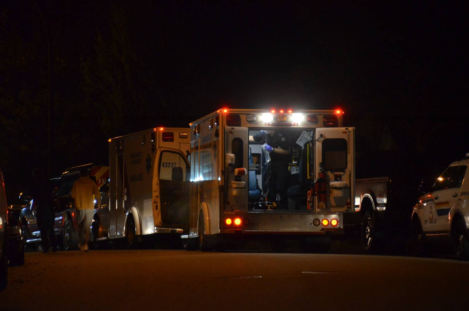 RCMP were called to an assault in the 23700-block of 110 Ave in Maple Ridge Tuesday, Oct. 20, 2020. (Curtis Kreklau/Special to The News)