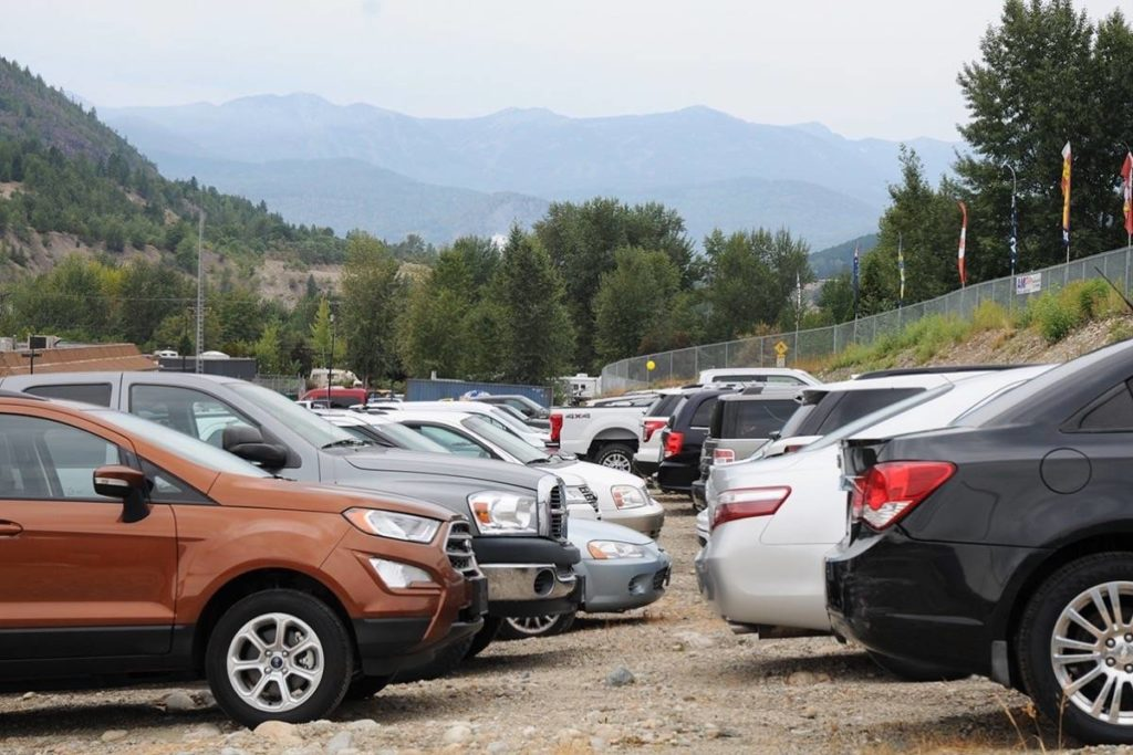 A glimpse of some of the 480 (approx) cars written off as a result of the acid spills along the Trail highway in 2018. Photo: Trail Times
