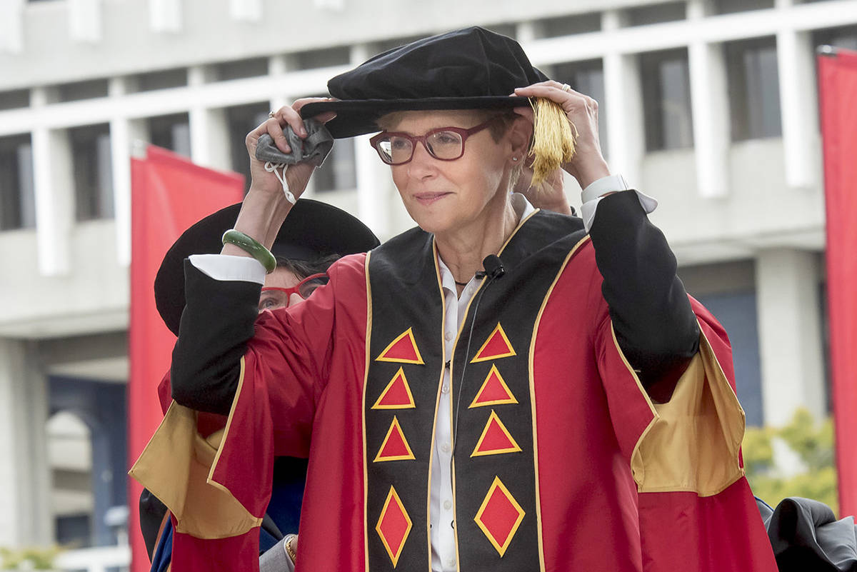 Joy Johnson, seen here during an installation ceremony on Oct. 22, is Simon Fraser University's 10th president and vice-chancellor. (submitted photo)