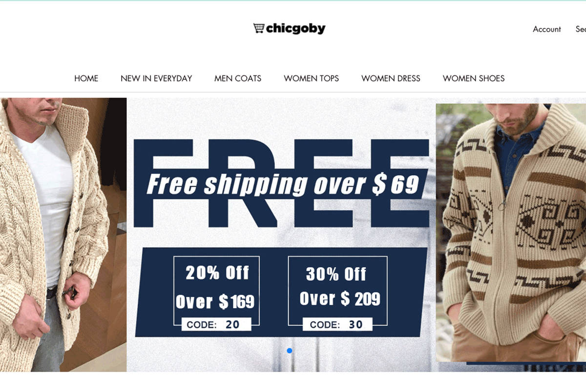 The website Chigoby is among eight scam online retailers that have been identified by the Better Business Bureau. The site was fraudulently using an Abbotsford residential address, but has since switched to one in Poland.