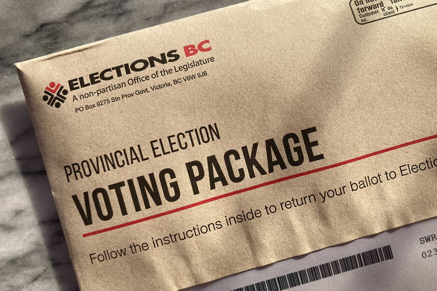 Elections BC has sent out almost 700,000 mail voting packages as of Oct. 14 with just under 3.5 million registered voters. (Black Press Media File)