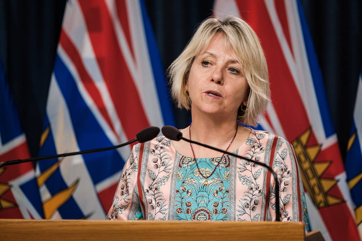 Provincial health officer Dr. Bonnie Henry at a COVID-19 press conference in September 2020. (B.C. government)
