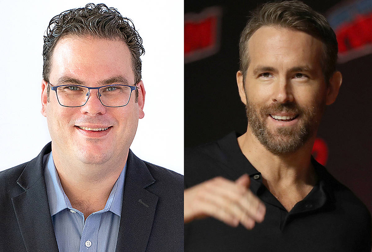 The two Ryans. BC Conservative Ryan Warawa believes Ryan Reynolds would be ideal to play him on the silver screen. (Special to Langley Advance Times & Canadian Press)