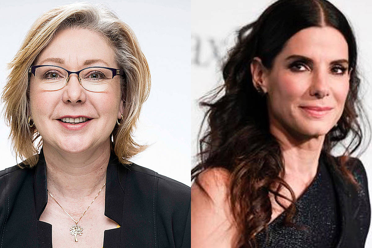 Langley riding's Liberal incumbent Mary Polak would hope Sandra Bullock would play her on the big screen. (Special to Langley Advance Times & Associated Press)