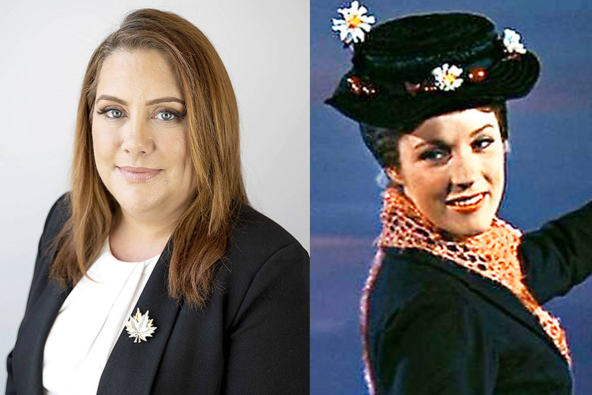 Aspiring MLA or Langley East, NDP Megan Dykeman, hopes Julie Andrews would play her, if a motion picture was ever made of her life. (Special to Langley Advance Times & Disney)