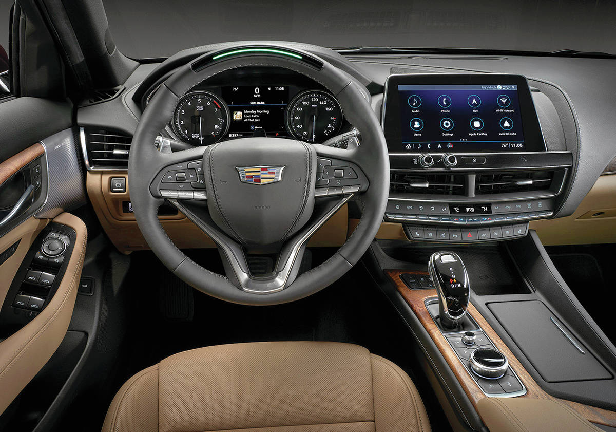 Earlier attempts for this style of electronic transmission shifter in the XT5 utility vehicle resulted in quirky gear selection, but newer versions are improved. The CT5 is about five centimetres wider than the CTS it replaces, but five centimetres shorter. PHOTO: CADILLAC