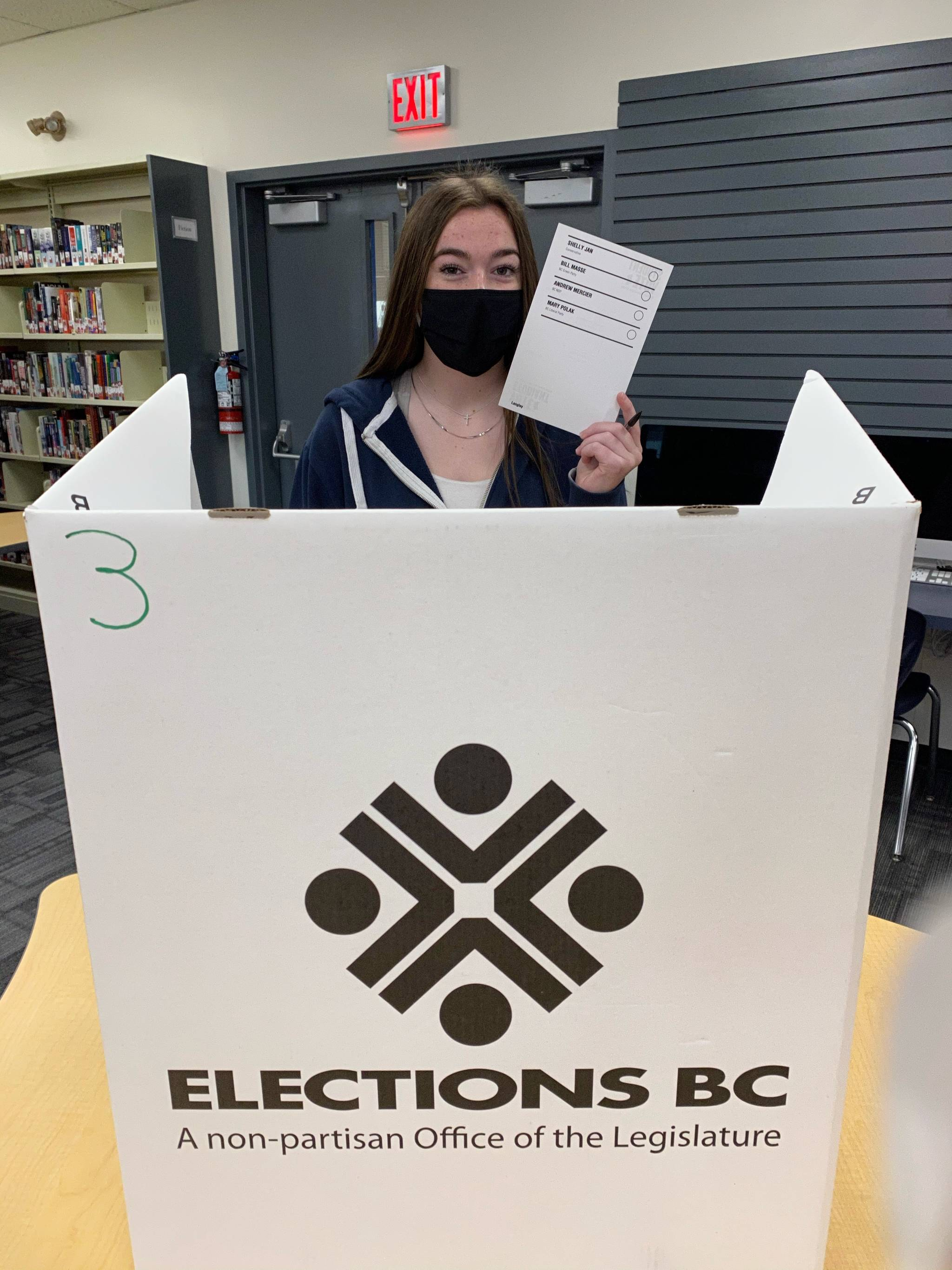 Students at Brookswood Secondary participated in Student Vote 2020. (Katie Glover/Special to Langley Advance Times)Students at Brookswood Secondary participated in Student Vote 2020. (Katie Glover/Special to Langley Advance Times)
