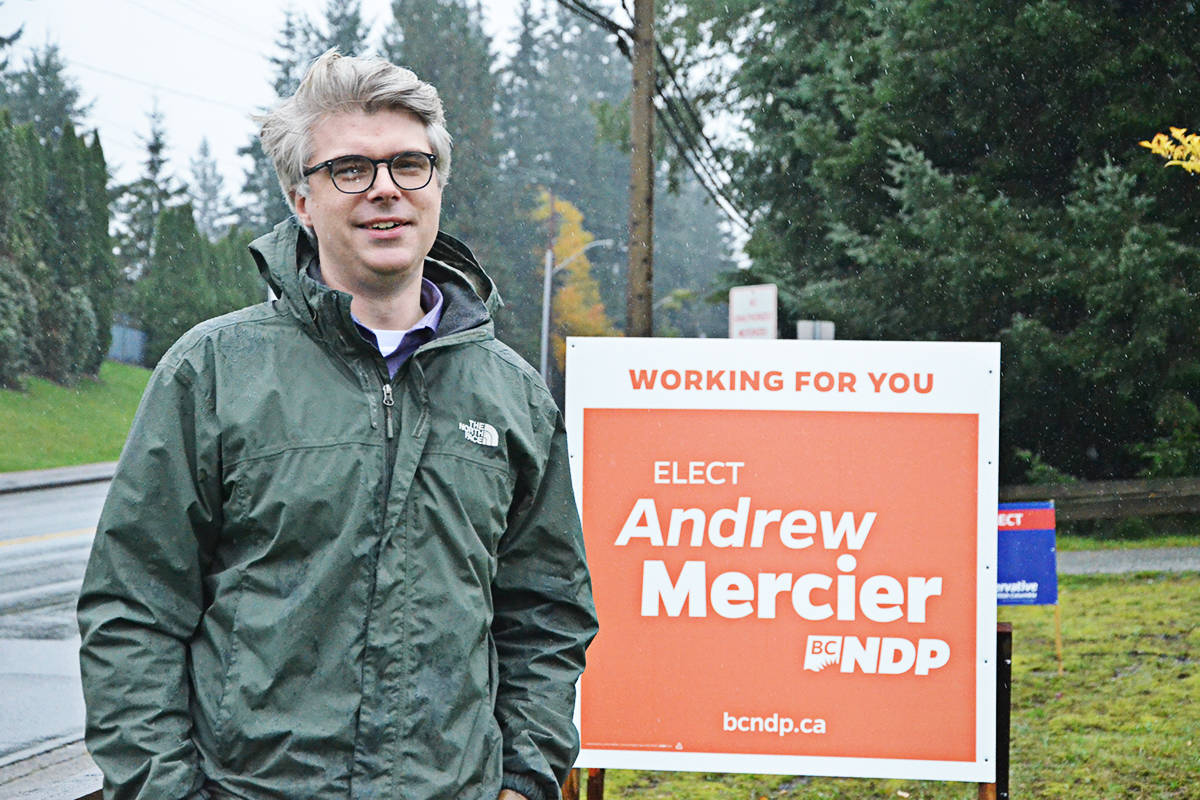 Andrew Mercier is running for the NDP in the Langley riding. (Matthew Claxton/Langley Advance Times)