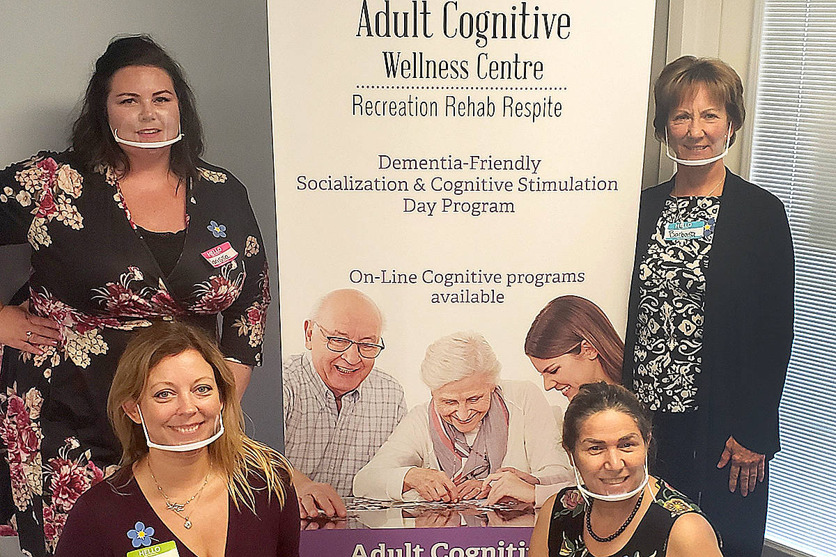 The team at Adult Cognitive Wellness Centre earned the outstanding support award for 2020. (Special to Langley Advance Times)