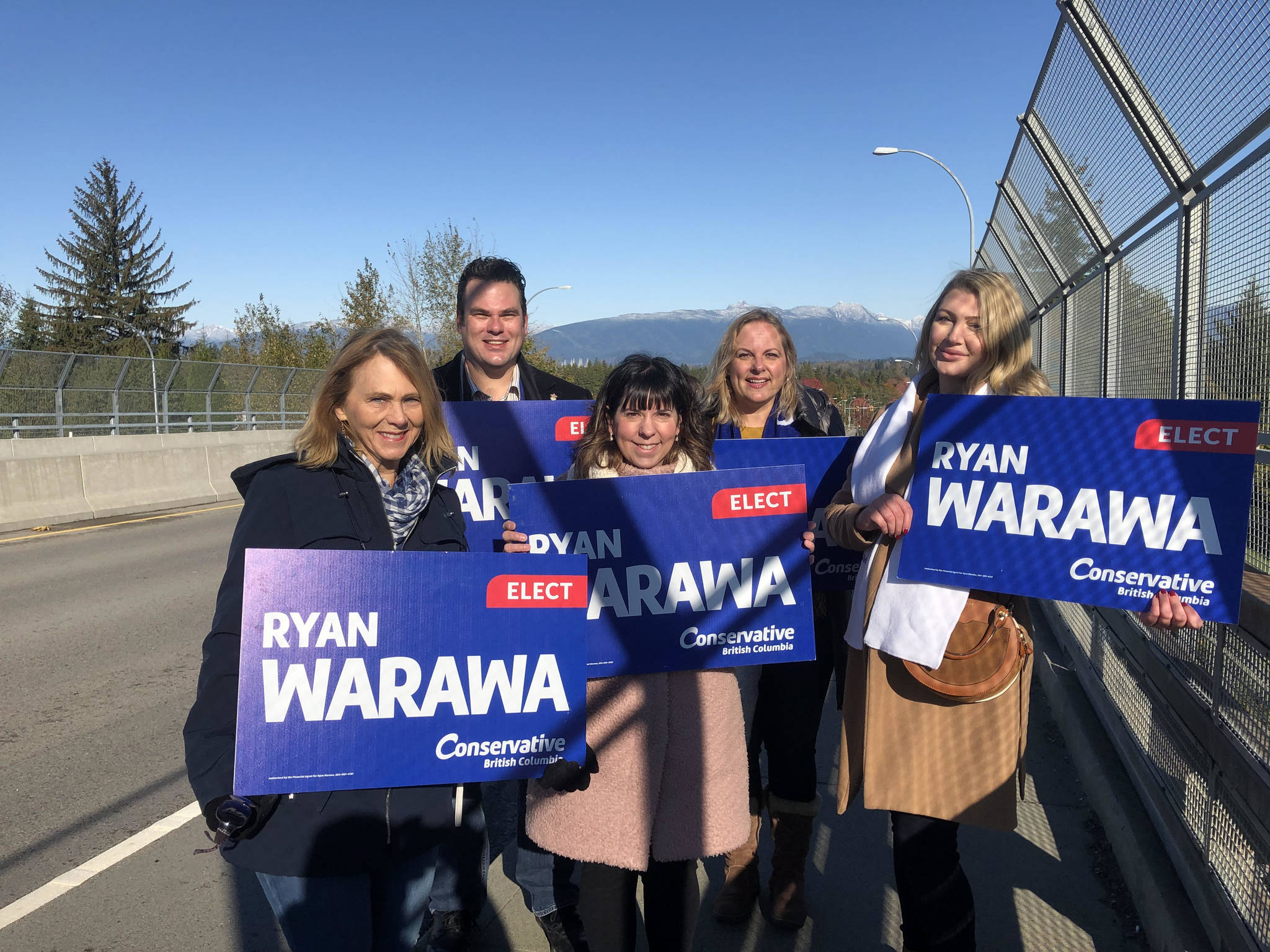 """""""I have been spending today burmashaving with my supporters, and reaching out to voters on the phone,"""" Conservative candidate Ryan Warawa. (Ryan Warawa/Special to Langley Advance Times."""