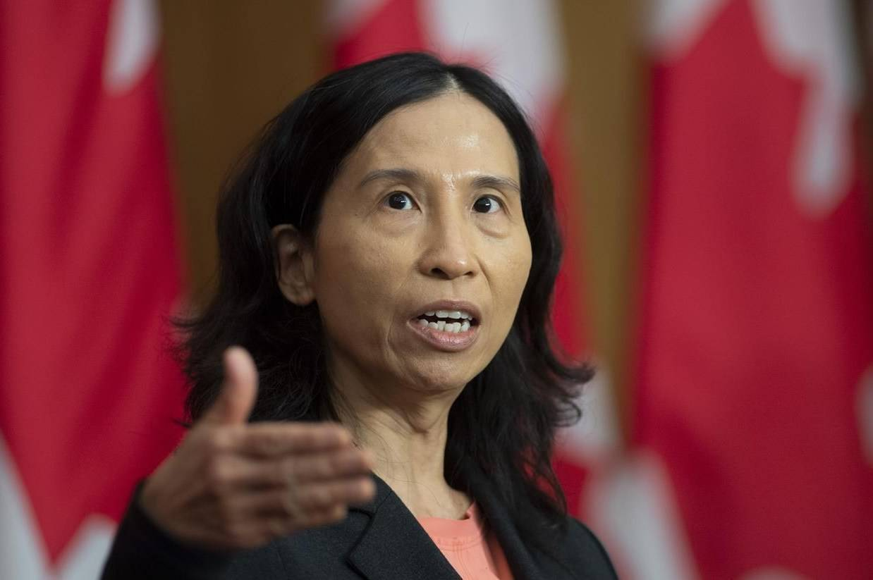 Canada's Chief Public Health Officer Theresa Tam responds to a question during a news conference Friday October 23, 2020 in Ottawa. Canada's top physician says she fears the number of COVID-19 hospitalizations and deaths may increase in the coming weeks as the second wave continues to drive the death toll toward 10,000. THE CANADIAN PRESS/Adrian Wyld