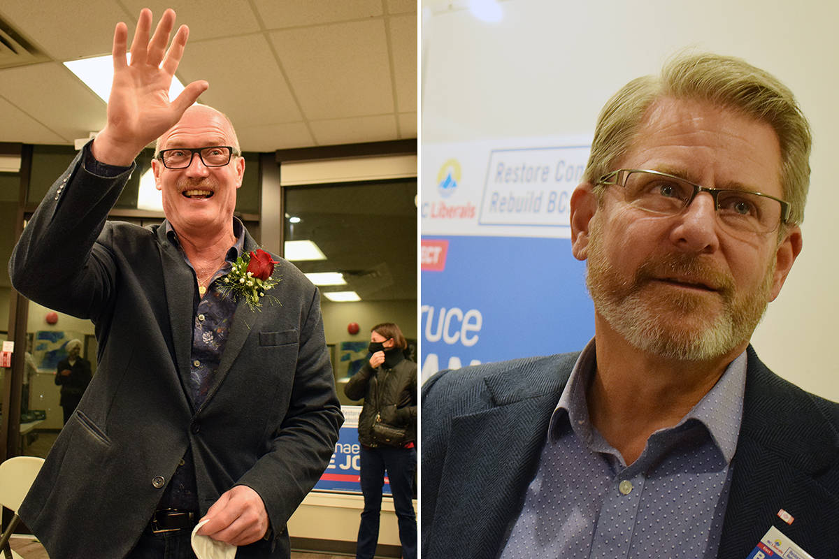 BC Liberal candidates Michael de Jong and Bruce Banman are projected to win in Abbotsford West and Abbotsford South, respectively. Tyler Olsen/Abbotsford News