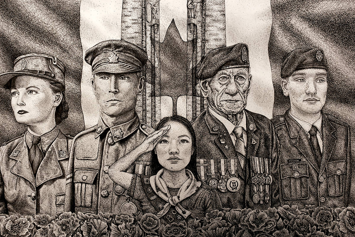 Aldergrove's Shaelyn Lorensen won the 2019-2020 Youth Remembrance Contest with her artwork, held through the Legion National Foundation. (Shaelyn Lorensen/Special to The Star)