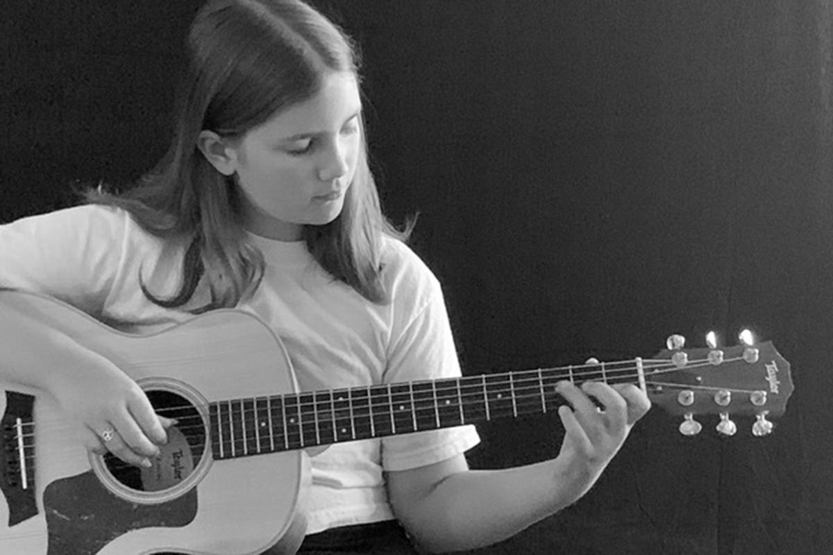 Ava Hamill is taking part in Myles of Smiles virtual open mic event through Creative Compass Society. (Creative Compass Society/Special to the Aldergrove Star)