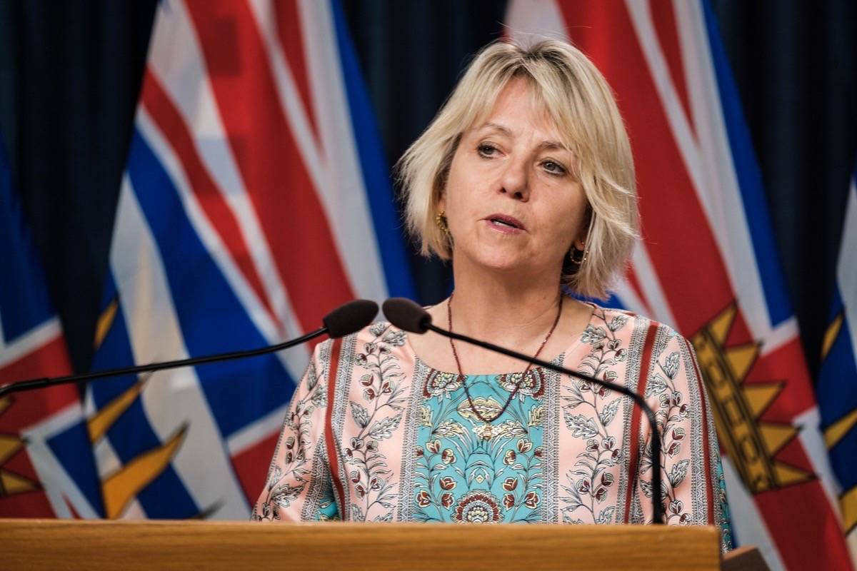 B.C. Provincial Health Officer Dr. Bonnie Henry. (B.C. government photo)