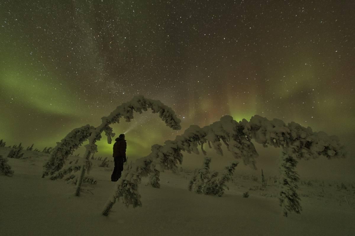 Northern Lights, Old Crow Yukon. Robert Postma photo/Travel Yukon.