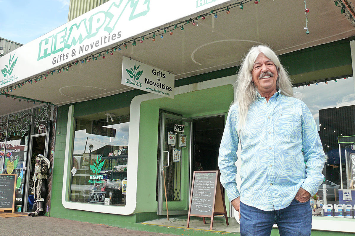 After years of campaigning to decriminalize cannabis, Randy Caine is preparing to apply for a seller's licence at his Langley City store – once the city sorts out its approval process (Dan Ferguson/Langley Advance Times)