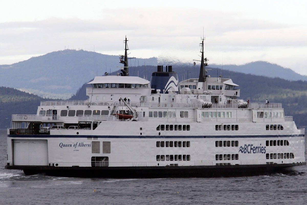 FILE – The Queen of Alberni ferry leaves the Tsawwassen Ferry Terminal in Delta bound for Vancouver Island, Sunday, July 29, 2007. (CP PHOTO/Richard Lam) CANADA