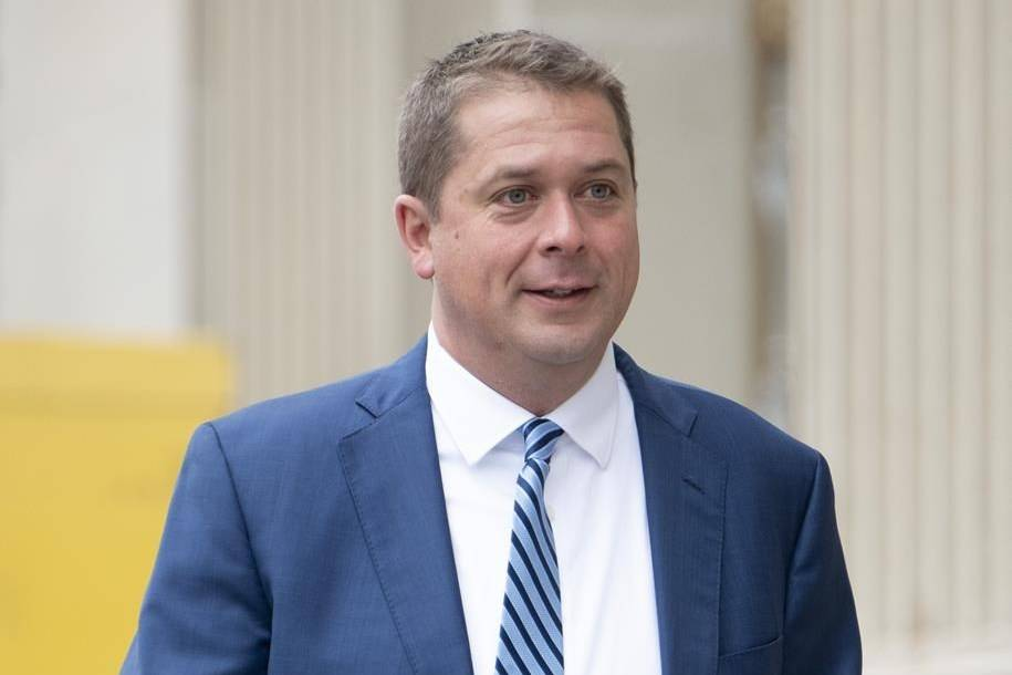 Former Conservative leader Andrew Scheer arrives for the National Caucus in Ottawa on September 9, 2020. THE CANADIAN PRESS/Adrian Wyld